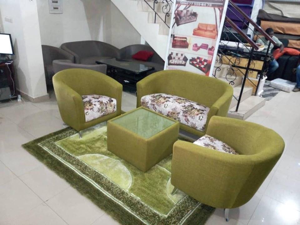 Salon 5 places en tissu