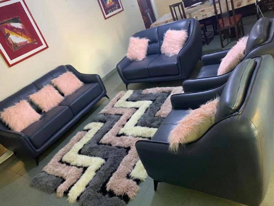 Salon 7 places en cuir